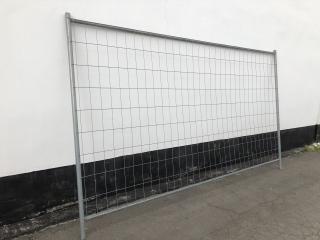 Bauzaun aus Stahl L 3,50m x H 2,00m - gebraucht