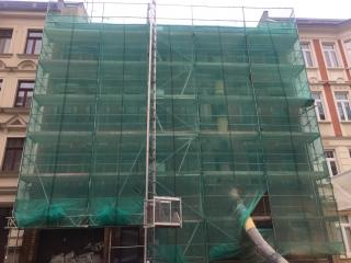 Used facade scaffolding 765qm Plettac SL 75m x 10,20m