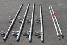 Montage-Sicherheitsgeländer - Sicherheits-Pfosten und Teleskopgeländer Plettac