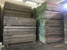 Timber deck W32 L250 2,5m Plettac compatible - used
